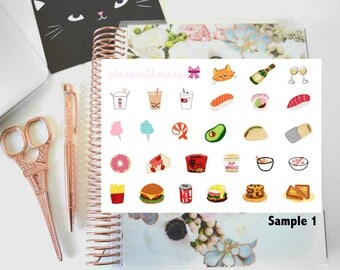 Samplers for planswithvaness Hand Drawn Planner Stickers