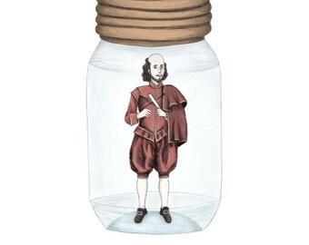 Shakespeare in a jar - Giclée (fine art) print