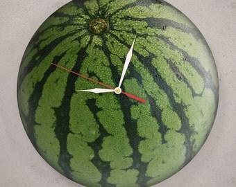Watermelon Clock Etsy