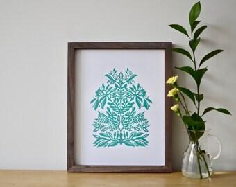 Auga green print