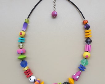 Colorful necklace various parts