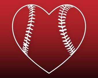 Baseball heart svg Baseball svg files Baseball cut file for cricut Baseball love svg Baseball vector Baseball vinyl decal Baseball clipart