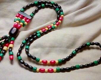 Unique Rasta Beaded Money Necklace