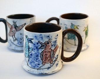 Bird Mug Gift, for tea and coffee lovers