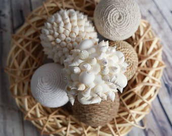 Decor Balls - 7 Pack - Shell & Twine