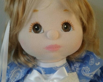 My Child Vintage Mattel Doll - Ash Hair and Brown Eyes in Excellent Condition