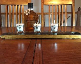 Jack Daniels  Oak Candle Holder