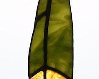 Stained Glass Suncatcher Classic Feather