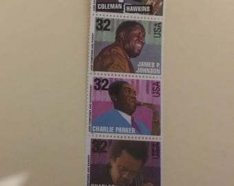 Mint condition Jazz musician postage stamps