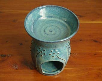 Handmade Stoneware Essential Oil Burner- Candle Wax Burner- Alia Levi-Handmade Pottery-ceramic