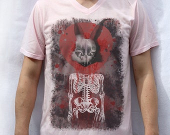 Rabbit in Your Headlights T shirt Design, UNKLE
