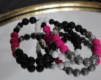 Pink Punk - Handmade Beaded Bracelet