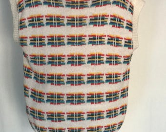 80's Rainbow Knit Sweater