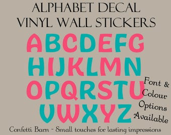 Alphabet Wall Decal - Vinyl Wall Peel and Stick - Removable Vinyl Decal - Kids Room / Nursery Decal #23