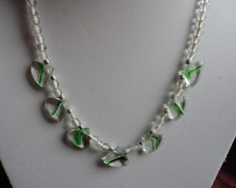 Mint Julip Lampwork Glass Bead Necklace - N19