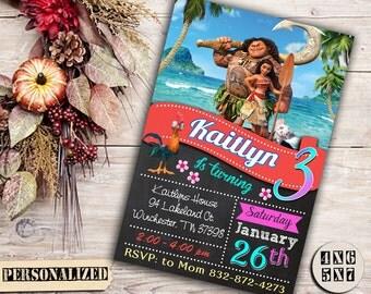 Moana / Moana Invitation / Moana Birthday / Moana Party / Moana Birthday Invitation / Moana Party Invitation / Moana Printable / Moana Card
