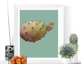 Cactus Art | Succulent Printable | Green | Desert Print | Art Printable | Prickly Pear | Cactus Photograph | Instant Download