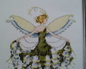 New Mirabilia Cross Stitch Pattern/Beads - Lily of the Valley - Spring Garden Party Collection for Pixie Couture by Nora Corbett
