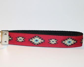 Handmade Navajo Design Nylon Key Fob Wristlet