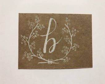 Monogrammed Journal/Memory Prompts (Sassified Edition, set of 25)