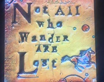 Decorative tile with unique quotes