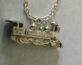 Sterling Silver Train Charm Necklace