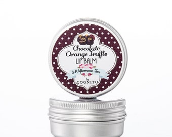 Chocolate Orange Lip Balm - Chocolate Lip Balm - Natural Lip Balm - Chocolate Lover  - Mother's Day Gift - Chocoholic - Chocotherapy