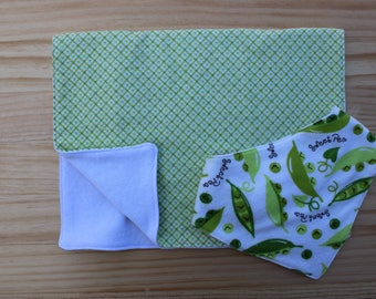 Baby Burp Cloth & Bib Set