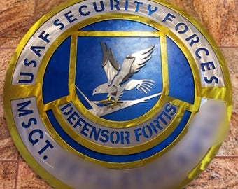 Custom USAF security force plaque