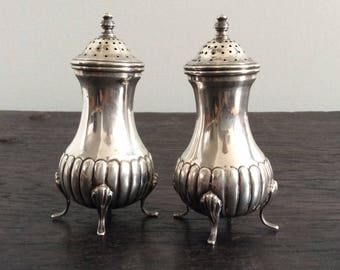 Solid Sterling Silver Salt and Pepper Shakers / 925 / Hallmarked
