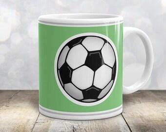 Athletic Soccer Ball Mug - Sports Green - 11oz or 15oz
