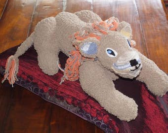 Hand Knitted Large Lion