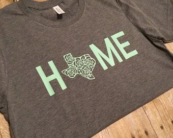 Texas Home T-shirt- Home Tshirt- Texas shirt