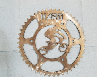 Plasma cut custom bmx bike sprocket wall art