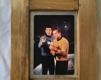 Framed Star Trek Print -- Kirk and Spock