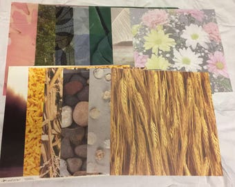 13 Photo Realistic Scrapbook Paper Pages, 12 x 12