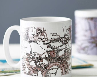 Personalised Ceramic Map Mug With Choice Of Styles