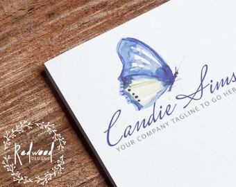 Premade Logo | Logo Design | Butterfly Logo | Script Logo | Elegant Logo | Watercolour Logo | Beautiful Logo | Business Logo