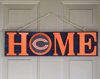 Chicago Bears, Chicago Bears Signs, Chicago Bears Decor, Chicago Bears Fan