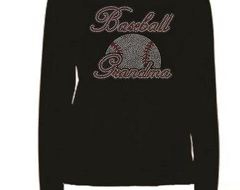 Rhinestone Love Baseball Lightweight T-Shirt                               BASEBALL GRANDMA 87