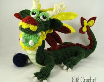 Large Amigurumi Crochet Chinese Dragon