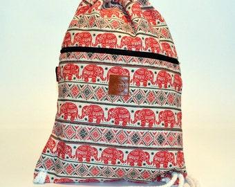 Elephant Safari Backpack Red