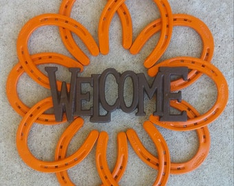 Welcome Sign - Sunburst Orange