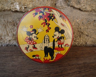 Mickey and Minnie mouse tin box