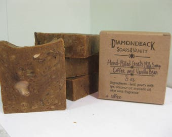 Coffee and Vanilla Bean Hand-Milled Goat Milk Soap