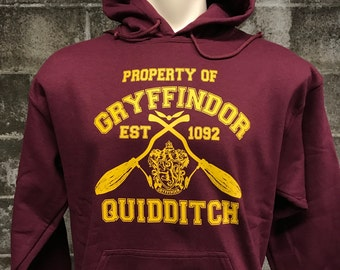 Gryffindor Harry Potter Hoodie - Gryffindor Quidditch Team Hoodie - Unisex - Awesome Hogwarts Hoodie Sweatshirt - Super Soft Fleece Interior