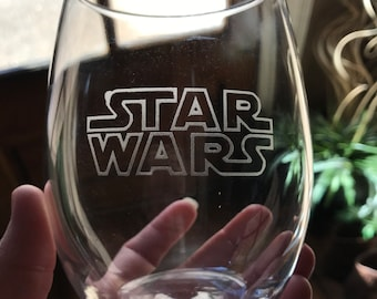 Stemless STAR WARS Etched Wine Glass