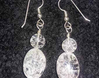 Sterling Silver Quartz earrings