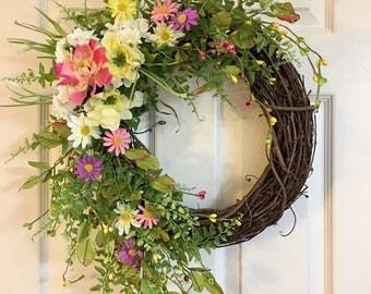 Summer wreaths for front door | Etsy