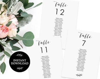 Seating Chart Printable, Editable pdf, INSTANT DOWNLOAD, Wedding Welcome Sign, Wedding Seating Chart, Find Your Seat - Lilly